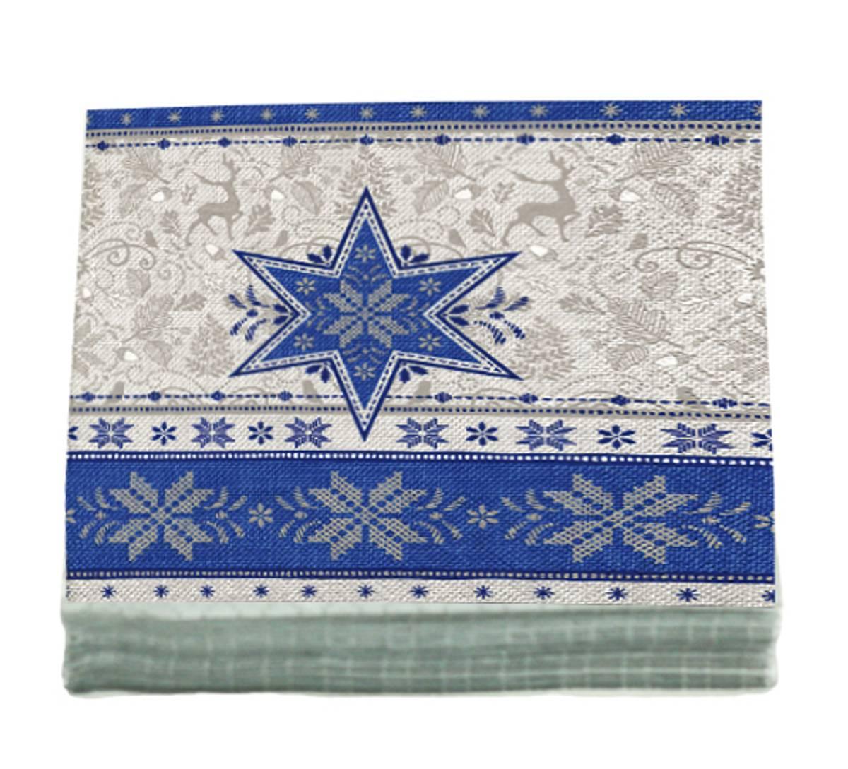 Servietter blå stjerne