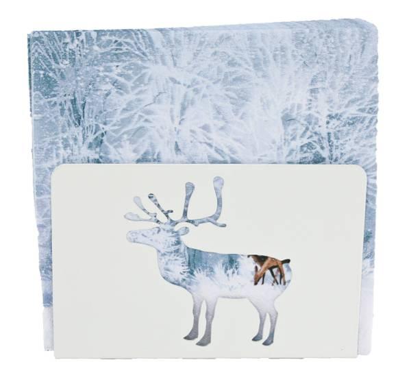 Bilde av Serviettholder med reinsdyr, hvit