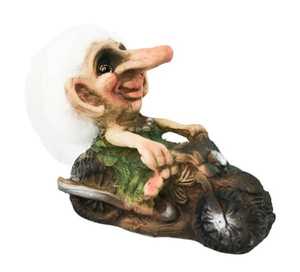 Bilde av Troll, dame på motorsykkel  (Troll nr. 005)
