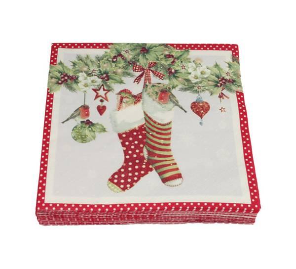 Bilde av Kaffeserviett, grilander og julestrømper