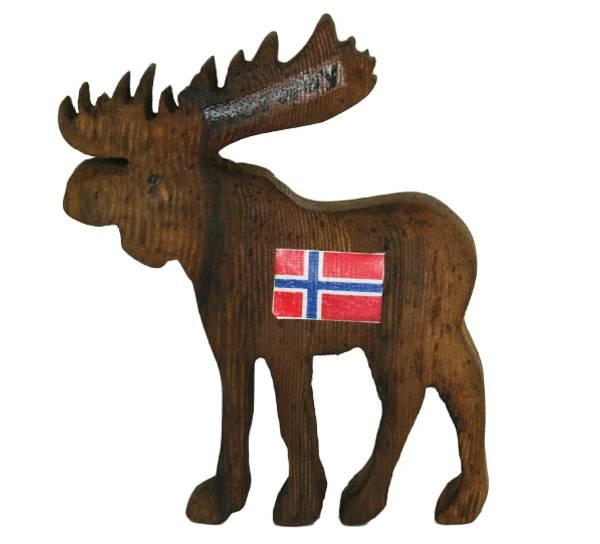 Bilde av Magnet, elg brun 'Norway' flagg