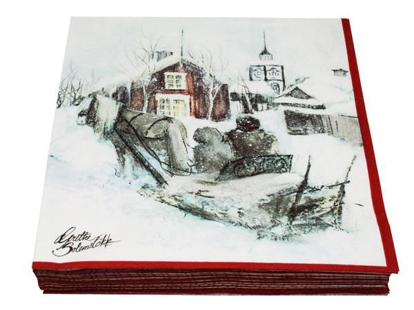 Bilde av Servietter Vinterbarn - Barn i fjellheimen