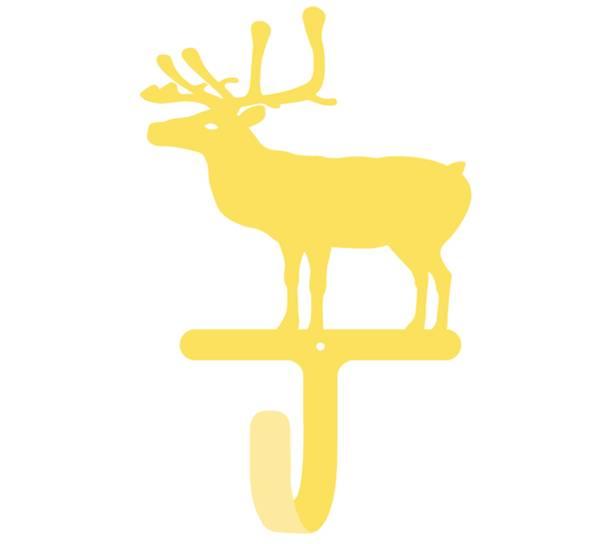 Bilde av Knagg med reinsdyr, gul