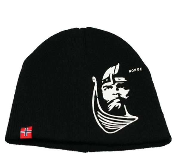 Bilde av Lue med viking og flagg, sort