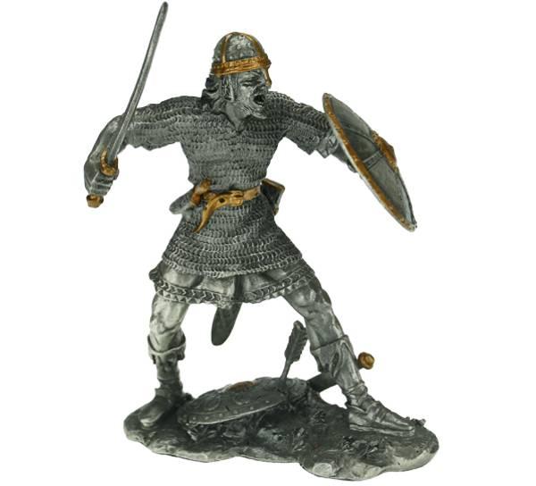 Bilde av Viking med sverd og skjold, tinn