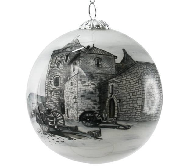 Bilde av Julekule håndmalt Bergen, Rosenkrantztårnet