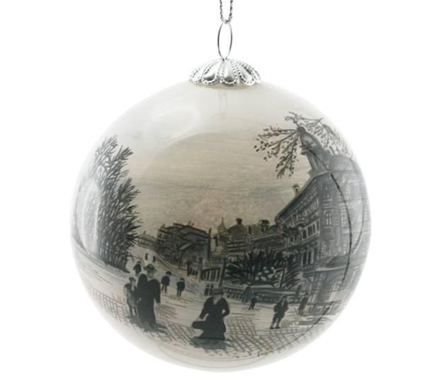 Bilde av Julekule håndmalt Bergen, Ole Bulls Plass