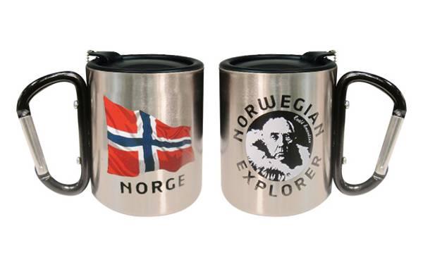 Bilde av Termokopp med lokk, flagg og Amundsen, sort
