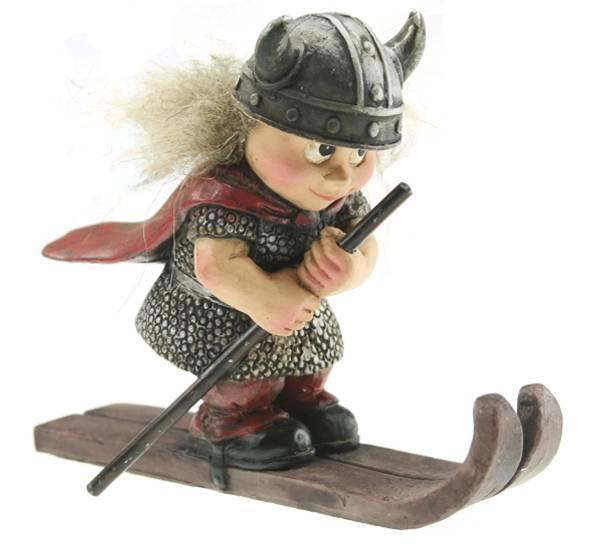 Bilde av Vikingbarn på ski