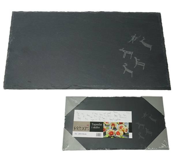 Bilde av Tapasfat i skifer med runer