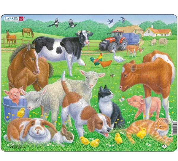 Bilde av Puslespill husdyr 15 brikker