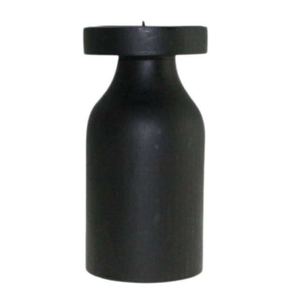 Bilde av Trelysestake, sort, høy, til kubbelys, F-design