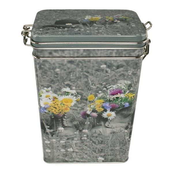 Bilde av Kaffeboks, blomster i sko, Pryd