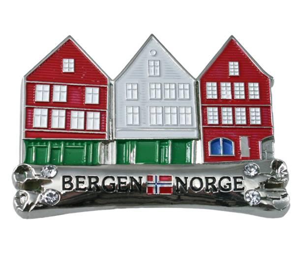 Bilde av Magnet i metall, Bryggen i Bergen