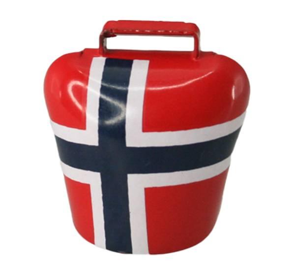 Bilde av Magnet, bjelle med Norgesflagg