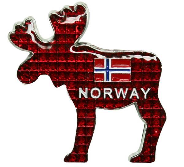 Bilde av Magnet, metall elg rød Norway